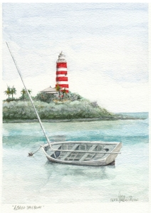 Abaco Sailboat, Hope Town, Bahamas